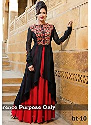 Rozdeal Red And Black Designer Suit