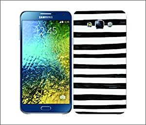 Galaxy Printed 1530 Black and White Doodle Strips Hard Cover for samsung GRAND 2