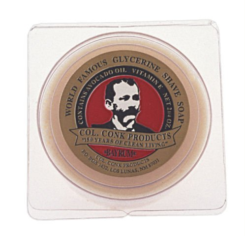 Col. Conk World's Famous Shaving Soap, Bay Rum (Net Weight 2.25 Oz)