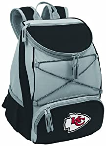 NFL Kansas City Chiefs PTX Insulated Backpack Cooler, Black by Picnic Time