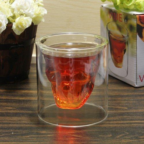 Crystal Skull Vodka Shot Glass Wine Cup 250ml