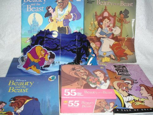 Picture of GOLDEN BOOKS BEAUTY AND THE BEAST BOOKS/PUZZLE (B002MO155G) (Puzzle Accessories)