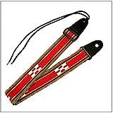 三線ストラップ 八重山ミンサー柄(赤))【送料無料】 ランキングお取り寄せ