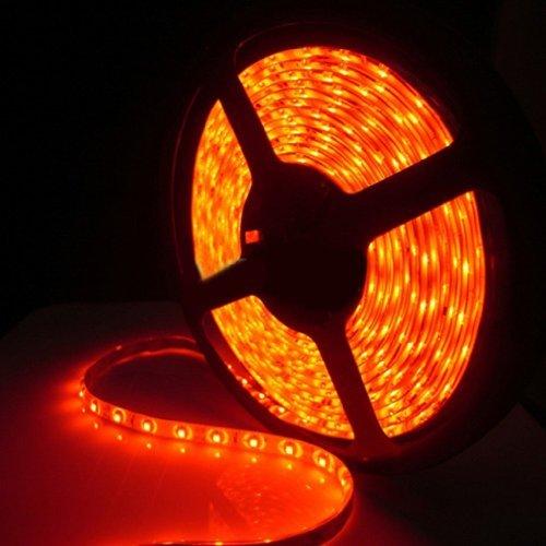 16 Ft Waterproof Red Led Strip 3528 Smd 300 Led 5M Flexible Lamp Light 12V