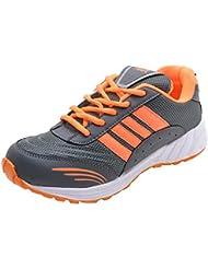 Freedom Daisy Men's Mesh Grey & Orange Sports/Running Shoes