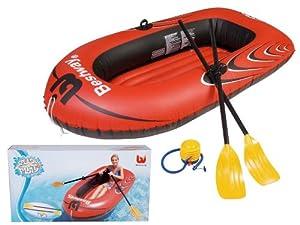 bateau pneumatique gonflable rames gonfleur pour piscine plage ou mer jeux et jouets. Black Bedroom Furniture Sets. Home Design Ideas
