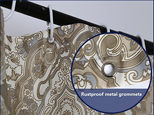 """, Extra Long_Wide Shower Curtain Set Paisley Shower Curtain 78"""" x 84 ..."""