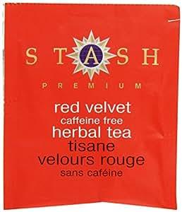 Stash Tea Red Velvet Herbal Tea, 100 Count Box of Tea Bags in Foil