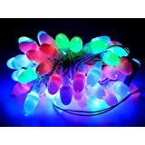 Tu Casa Multi-color-color Color Led Bullet String Light-55-60 Bulbs-Set Of 3(12.5m, Gloss Plastic, Multi-color)