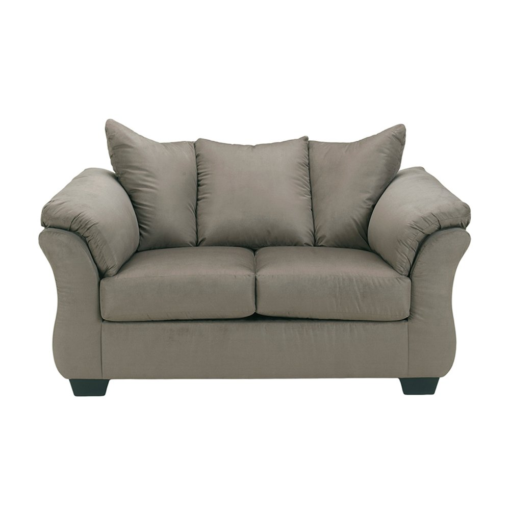 Flash Furniture Signature Design by Ashley Darcy Loveseat in Cobblestone Fabric [FSD-1109LS-COB-GG]