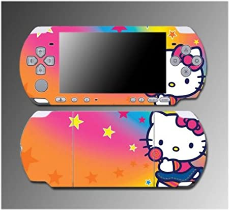 Cute Kitty Pink Hearts Princess Fairy Girl Game Vinyl Decal Sticker Cover Skin Protector #10 for Sony PSP Slim 3000 3001 3002 3003 3004 Playstation Portable