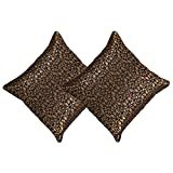 "Indian Decor Handmade Silk & Brocade Set Of Two Cushion Cover - 18"" X 18"""