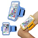 iPhone6 Sports Armband, Nancy's shop Easy Fitting Sports Universal Armband With Build In Screen Protect Case Cover Running band Stylish Reflective Walking Exercise Mount Sports Sports Rain-proof Universal Armband Case+ Key Holder Slot for Iphone 6 (4.7 Inch)(Light Blue)