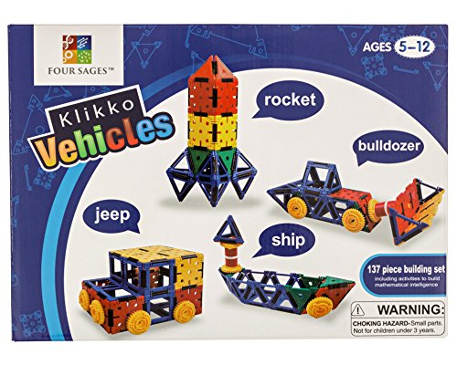 Klikko Vehicles: Educational Building Toy (137 pieces) with Activities to Learn Math / STEM Concepts, Ages 5+ (Building Vehicles compare prices)