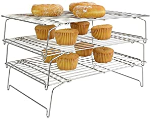 Surpahs 3-Tier Stackable 18/10 Stainless Steel Cooling Rack Set