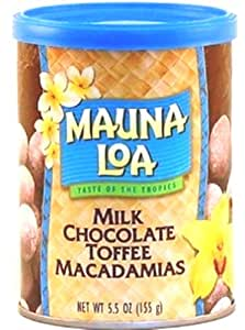 Mauna Loa Milk Chocolate with Toffee and Macadamias, 5.5-Ounce Can