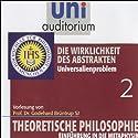 Die Wirklichkeit des Abstrakten (Theoretische Philosophie 2) Hörbuch von Godehard Brüntrup Gesprochen von: Godehard Brüntrup