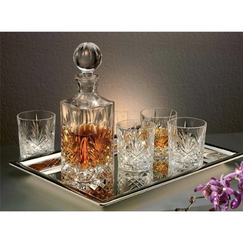 godinger dublin 6 piece crystal whiskey decanter set price bormioli rocco selecta. Black Bedroom Furniture Sets. Home Design Ideas