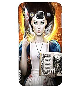 Omnam Horoscope Girl With Bookprinted Designer Back Case Samsung Galaxy E7