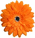 Posies Accessories Medium Sunshine Orange Gerber Daisy Flower Hair Clip