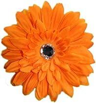 Posies Accessories Medium Sunshine Orange Gerber Daisy Flower Hair Clip