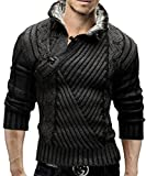 Merish Strickpullover Fellkragen Pullover Strickjacke Strick Slim Fit Herren 548