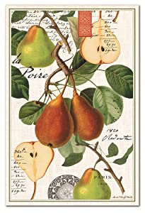 Michel Design Works Cotton Kitchen Towel, Tuscan Pear