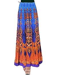 Aamrita Prints Women's Crepe Regular Fit Ethnic Skirt
