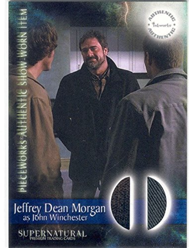 Supernatural stagione 1 Pieceworks Card PW-7 con camicia e Jeans indossata dalla Jeffrey Dean Morgan