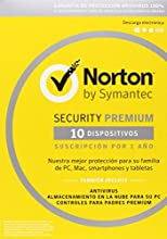 Norton Security Premium - Antivirus, 10 Licencias