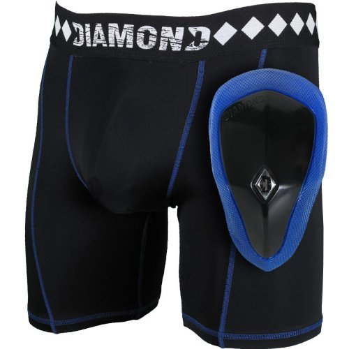 Diamante MMA Athletic Coppa Sistema Schermo & Pantaloncini a compressione con sospensorio, Black, XXL