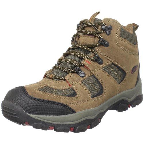 Nevados Men's Boomerang II Mid Hiking Boot,Dark Brown/Dark Green/Red,7 W US