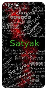Satyak (Honest) Name & Sign Printed All over customize & Personalized!! Protective back cover for your Smart Phone : Samsung Galaxy S5 / G900I