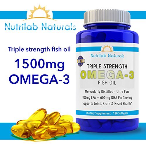 Triple strength fish oil pharmaceutical grade pills 180 for Viva naturals triple strength omega 3 fish oil
