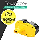 Flylinktech®18V /2000mAh Replacement DEWALT Power Tool Battery for DEWALT DC9096 DE9039 DE9095 DE9096 DW9095 DW9096