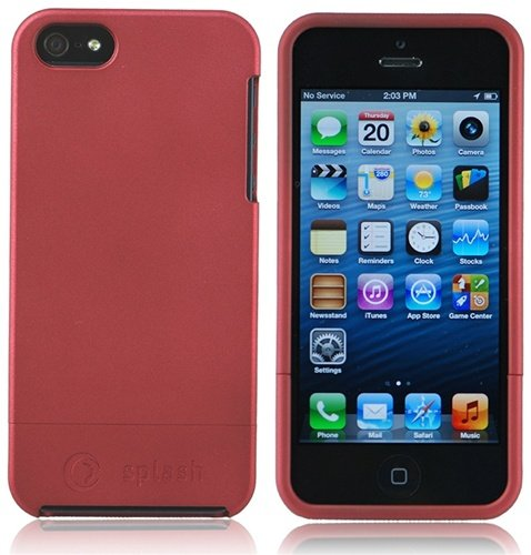 Special Sale Splash Cruiser Slim-Fit Polycarbonate Slider Case/Cover for iPhone 5 - RED
