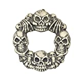"DII Halloween Skulls Wreath with Spooky Lights - 15"" Round"
