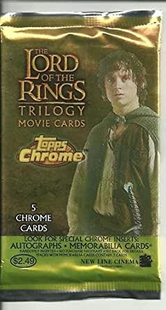 Lord of the Rings Topps Chrome Movie Cards - Pack of 5 Cards