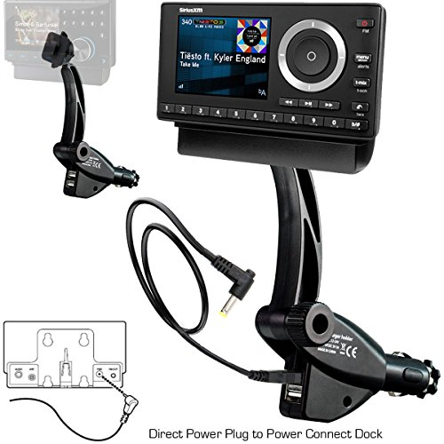 chargercity-dual-usb-sirius-xm-satellite-radio-lighter-socket-car-mount-w-tilt-adjust-powerconnect-v