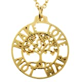 Make Love Not War Tree of Life Pendant Necklace