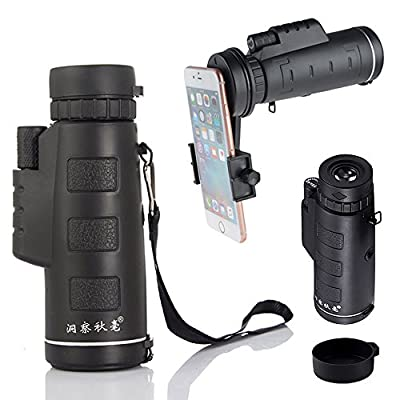 AYAMAYA 10x40 Universal Dual Focus Monocular Telescope and Bracket - High Definition WIDE VIEW Grip Scope Waterproof Cellphone Lens Compact & Daytime Use for iPhone 8 X 7 Valentines Day Gifts by AYAMAYA