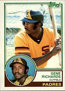 1983 Topps #7 Gene Richards San Diego Padres Baseball Card