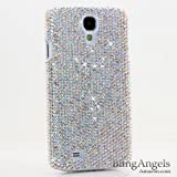 BlingAngels® Luxury Swarovski Crystal Diamond Bling AB White Crystals Design Case Cover for Samsung Galaxy S4 S IV i9500 fits Verizon, AT&T, T-mobile, Sprint and other Carriers (100% Handcrafted by BlingAngels with Pink Carrying Pouch)