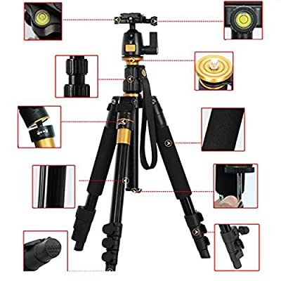 "XCSOURCE Profeshional Portable Magnesium Aluminium Alloy Tripod Monopod & Ball Head For DSLR SLR Camera DV Canon Nikon Petax Sony Tripod Q-555 Max Height: 55.9"", Max Load: 8KG"