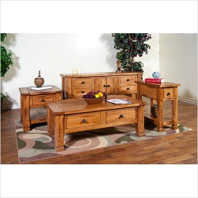 Buy Low Price Bundle 01 Sedona Coffee Table Set In Rustic Oak 3 Pieces B006a7r5i2 Coffee