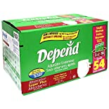 Depend Adjustable Underwear, Super Plus Absorbency, Small/Medium (28-45 Inches), 54 underwear