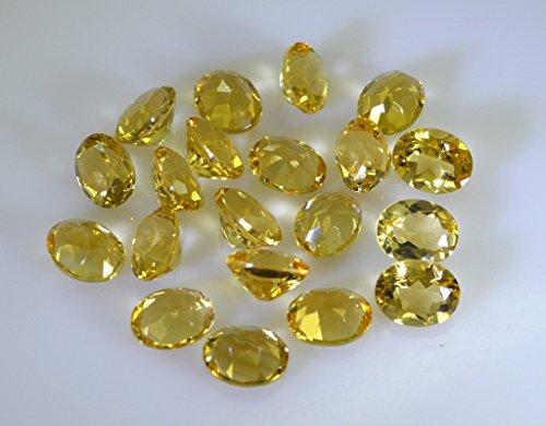pietre sciolte citrino 1 pezzi 8 x 10 mm ovale sfaccettato la pietra preziosa gialla