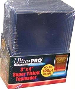 "120pt - Ultra Pro Top Loader (3"" X 4"") EXTRA Thick Pack - 10 loaders #82301"