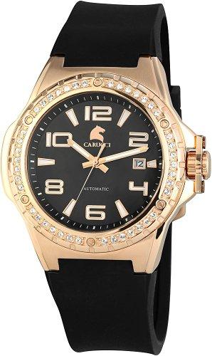 Carucci Watches CA2213RG-BK - Orologio da polso da donna, cinturino in caucciù colore nero