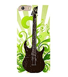 Vintage Floral Guitar 3D Hard Polycarbonate Designer Back Case Cover for Micromax Canvas Knight 2 E471